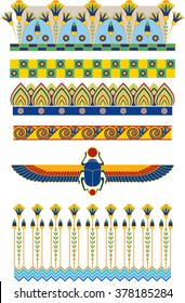 Ancient Egypt Vector Ornaments and Borders