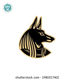 Ancient egyptian god Anubis icon vector