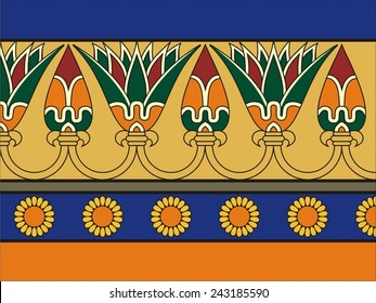 Ancient egyptian ornament. Vector