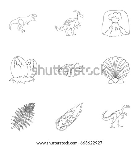 Image of: Prehistoric Animals Ancient Extinct Animals And Their Tracks And Remains Dinosaurs Tyrannosaurs Pnictosaursdinisaurs Natashamillerweb Ancient Extinct Animals Their Tracks Remains Stock Vector royalty