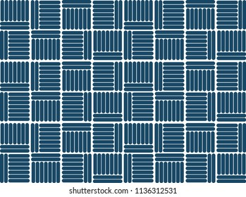 ancient geometrics pettern design blue bar with white background-vector eps8