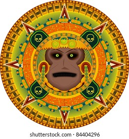 The ancient god of people the aztec in a vector