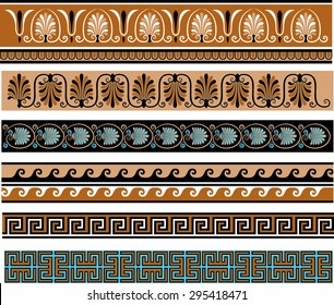 Ancient Greece Themed Decorative Borders Set