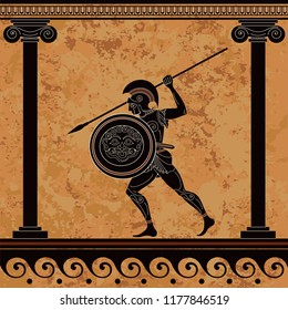 Ancient greece warrior.Hero,spartan,myth.Ancient civilization culture.