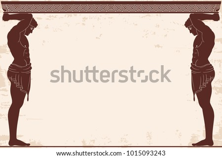Ancient Greek background with