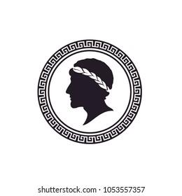 Ancient Greek Figure Coin logo design inspiration