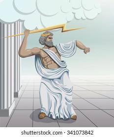 ancient greek god zeus illustration