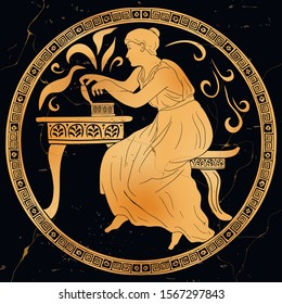 The ancient Greek goddess Pandora opens a box and frees evil powers. Old mythological plot.