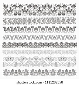 Ancient Greek pattern. Set of antique borders from Greece