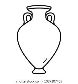 Ancient greek vase icon  in outline style
