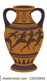 Ancient Greek vase. Vector