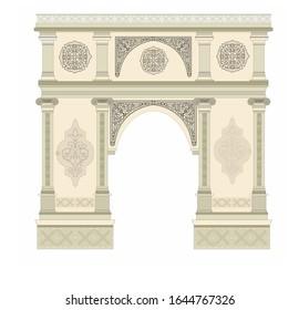 ancient hand drawn baroque arch