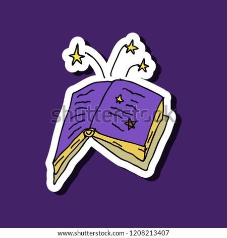 Ancient Magic Book Alchemy Recipes Mystic Stock Vector (Royalty Free