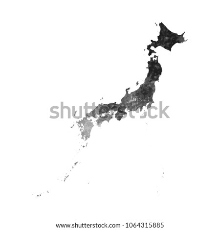 Ancient Map Of Japan.Ancient Map Japan Old Blank Parchment Stock Vector Royalty Free