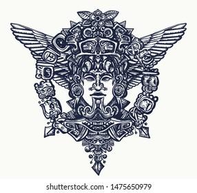 Mayan Tattoo Images Stock Photos Vectors Shutterstock