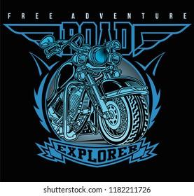ancient motorbike associations,vector motorcycle illustration