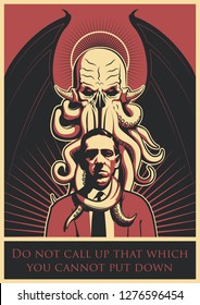 Ancient Mythical Monster Cthulhu Original Poster
