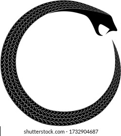 ancient occult alchemical symbol snake eating tail ouroboros