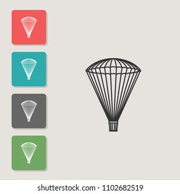 Ancient parachute - vector icon. Symbol for web, infographics, print design and mobile UX/UI kit. Vector illustration, EPS10.