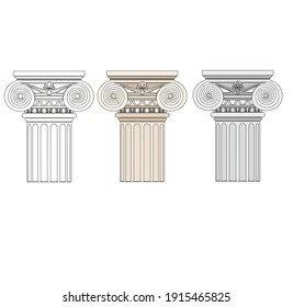 ANCIENT ROMAN AND HISTORICAL CLASSIC DECORATIONS GOTHIC COLUMNS AND FRIEZES IN ANCIENT VETIAN STYLE