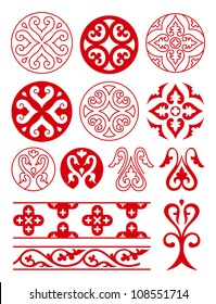 Ancient Russian ornament. Set of vector russian patterns