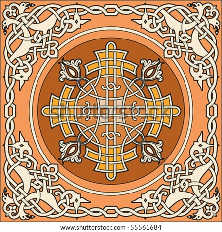 Ancient Russian Vector Pattern Stock Vector Royalty Free 55561684