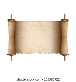 Ancient scroll. Vector illustration