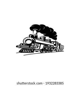 an ancient steam train symbol