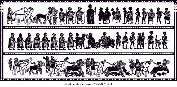 ancient sumerian gods vector