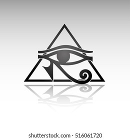 The ancient symbol Eye of Horus, Egyptian sign, vector