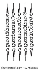 Ancient Thai Tattoo Vector template