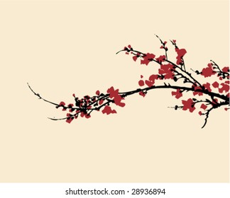 Ancient Traditional Artistic plum blossom Pattern 5