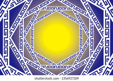 Ancient traditional pattern background material wallpaper, copy space, ancient arch surface decoration,