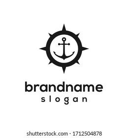 ancor navigation logo design vector
