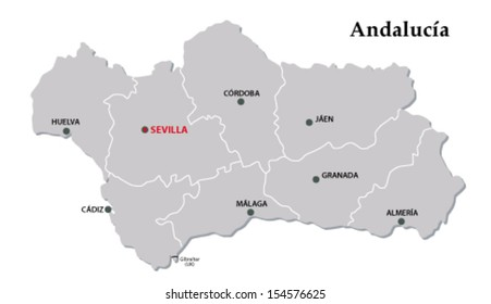 andalusia administrative map
