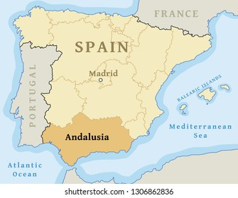 Map Of Spain Andalucia.Andalucia Map Images Stock Photos Vectors Shutterstock