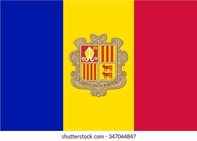 Andorra, Andorran Flag vector image