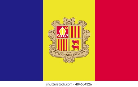 andorra country flag - vector