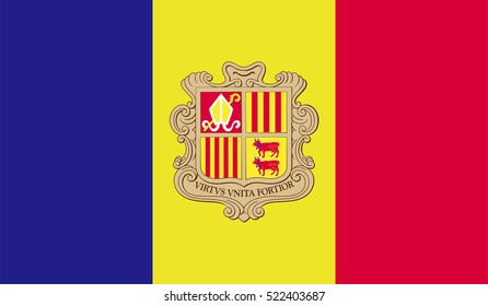 Andorra flag.
