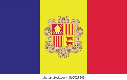 Andorra Flag. Vector Format
