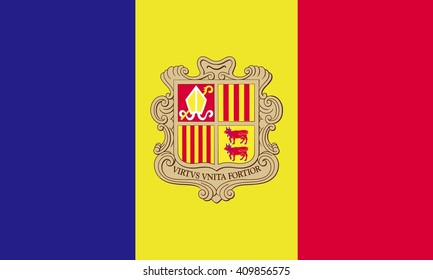 Andorra Flag vector graphics
