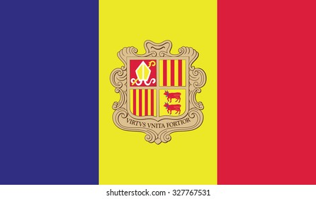 Andorra flag. Vector illustration.