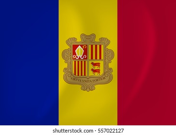 Andorra waving flag
