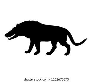 Andrewsarchus mongoliensis silhouette extinct prehistoric wolf mammal animal