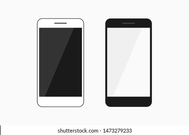 Android Cellphone Vector Icon Template