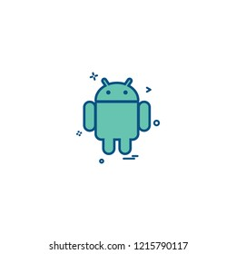 Android icon design vector