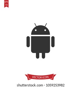 Android icon.App vector.Application sign sign isolated on white background. Simple media illustration for web and mobile platforms.
