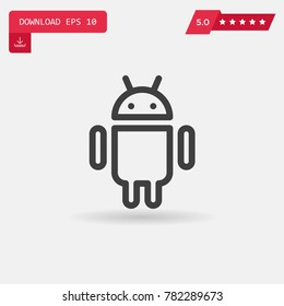 Android vector icon.. Emblem isolated on white background. Modern simple icon style for graphic and web design, logo. EPS10