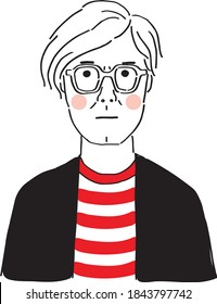 Andy Warhol vector sketch portrait illustration