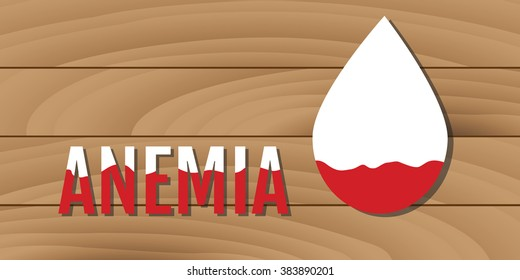 anemia concept with low blood illustration vector